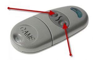 botones configuración mando garaje universal