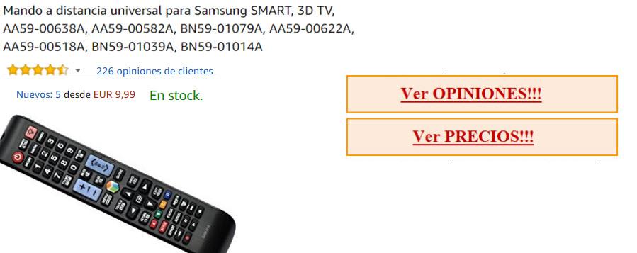 mando universal para tv samsung