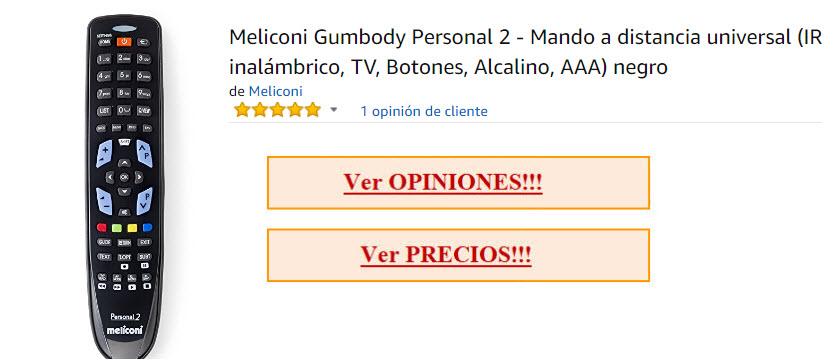 mando meliconi gumbody personal precio